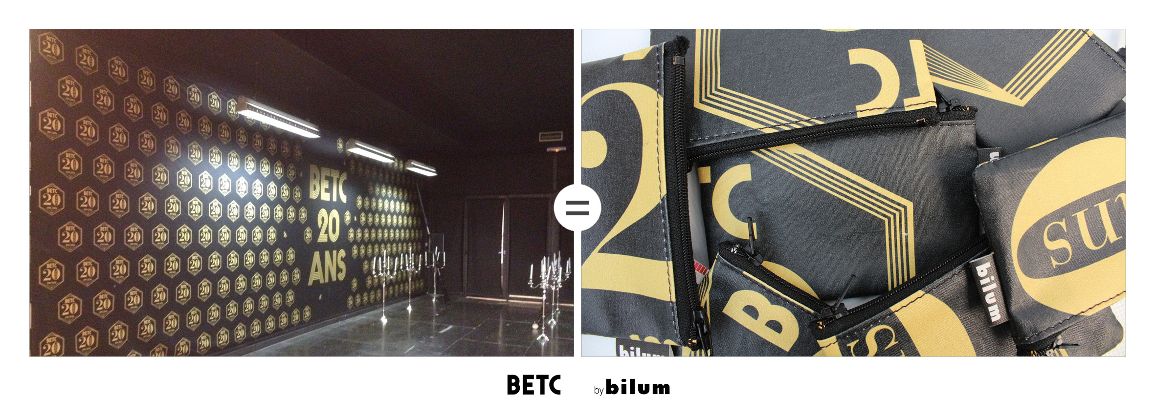 BETC toile upcyclees by bilum