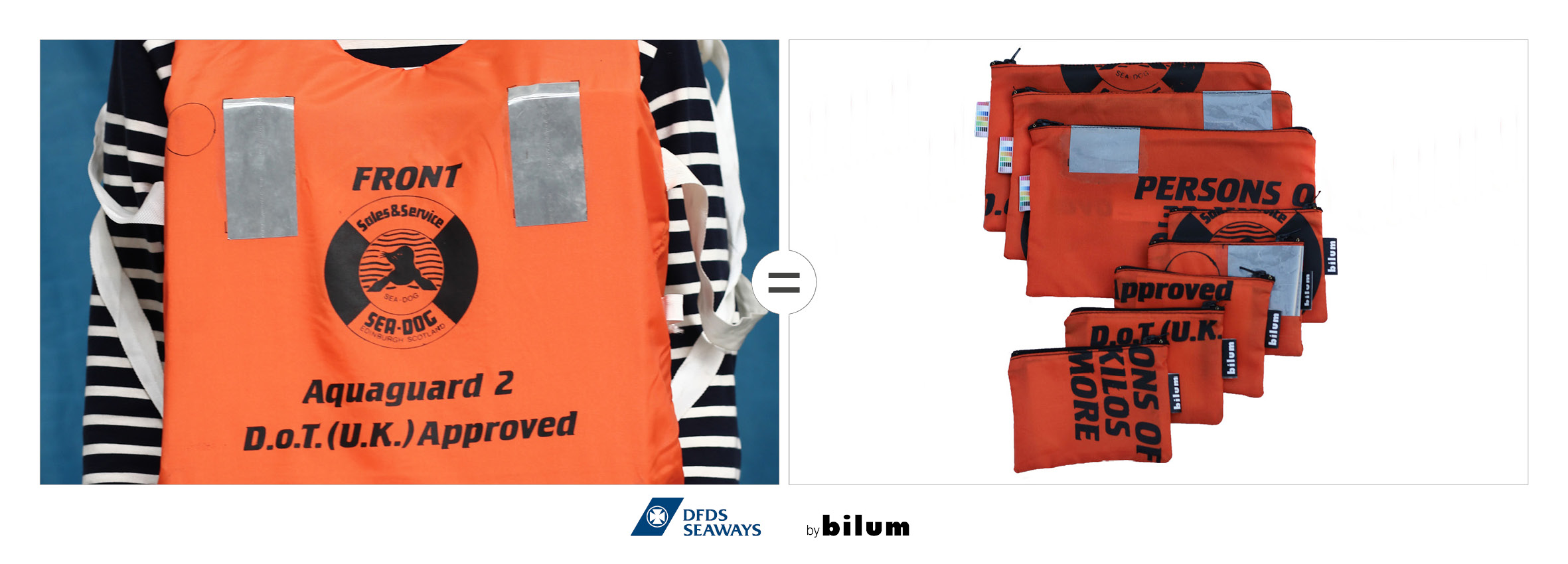 DFDS gilets upcyclees by bilum
