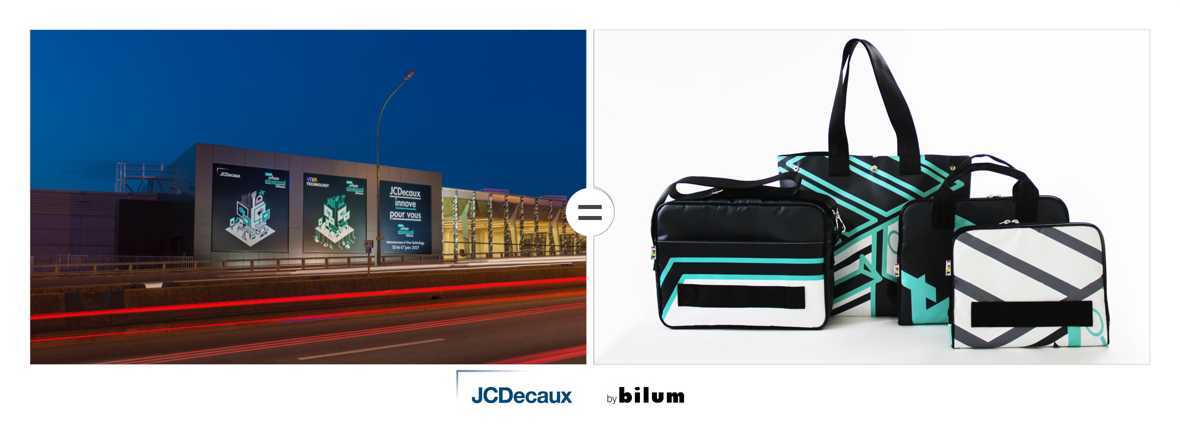 JCDecaux toiles upcyclées by bilum