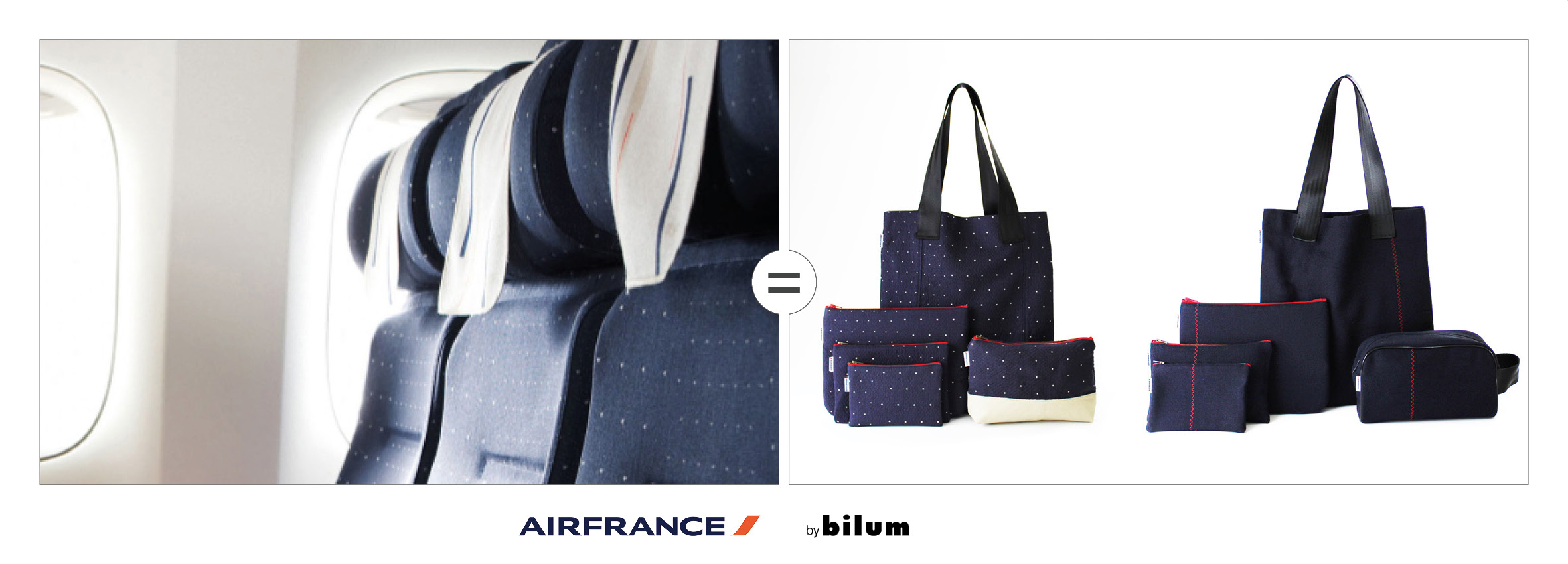 housses de sieges Air France upcyclees by bilum